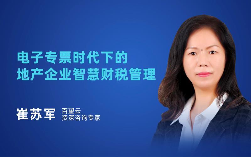 崔苏军-百望云-电子专票时代下的地产企业智慧财税管理