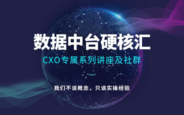 【锦囊微课】数据中台硬核汇-CXO专属系列讲座及社群