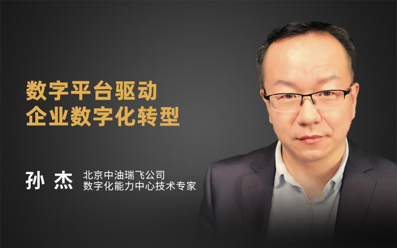 孙杰 北京中油瑞飞数字化能力中心技术专家-数字平台驱动企业数字化转型