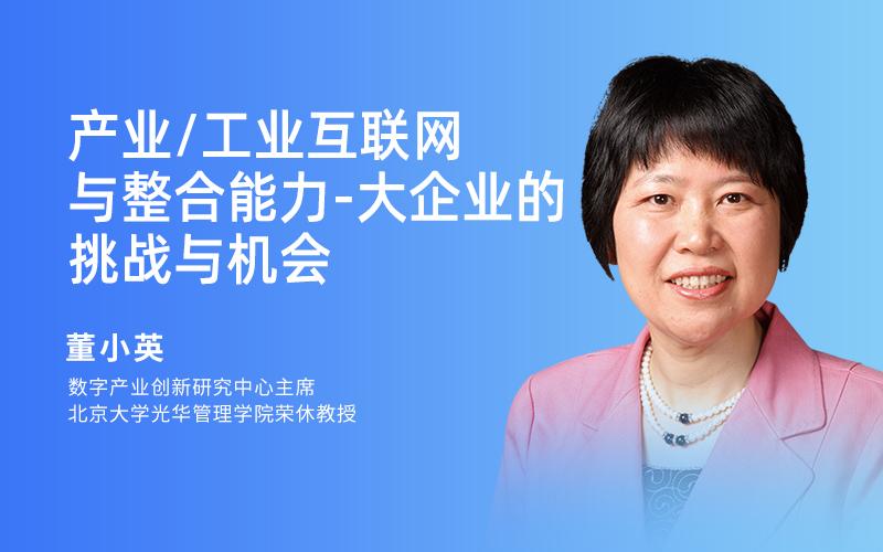 北京大学光华管理学院 董小英 - 科技竞争背景下的数字化战略