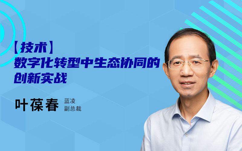 蓝凌副总裁叶葆春:数字化转型中生态协同的创新实战